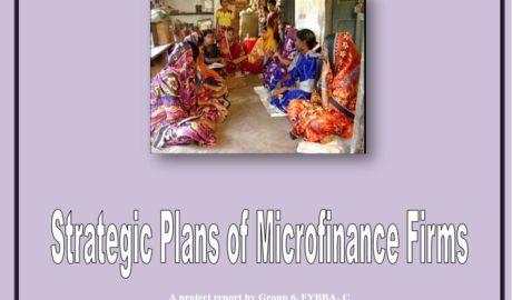 Strategic Plans of Microfinance Firm