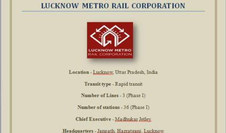 Project on Lucknow Metro Rail Corporation