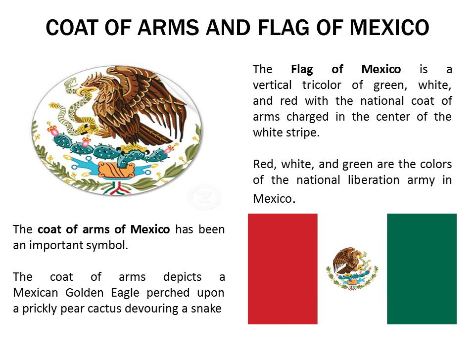 Coat of arms and Flag of mexico