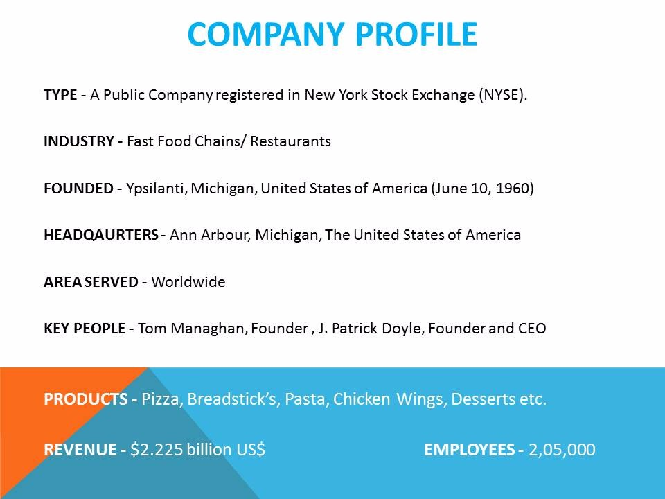 Dominos Company Profile