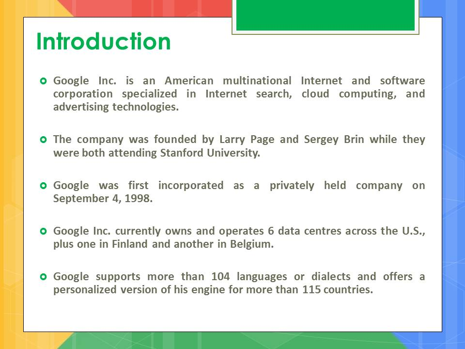 google project introduction