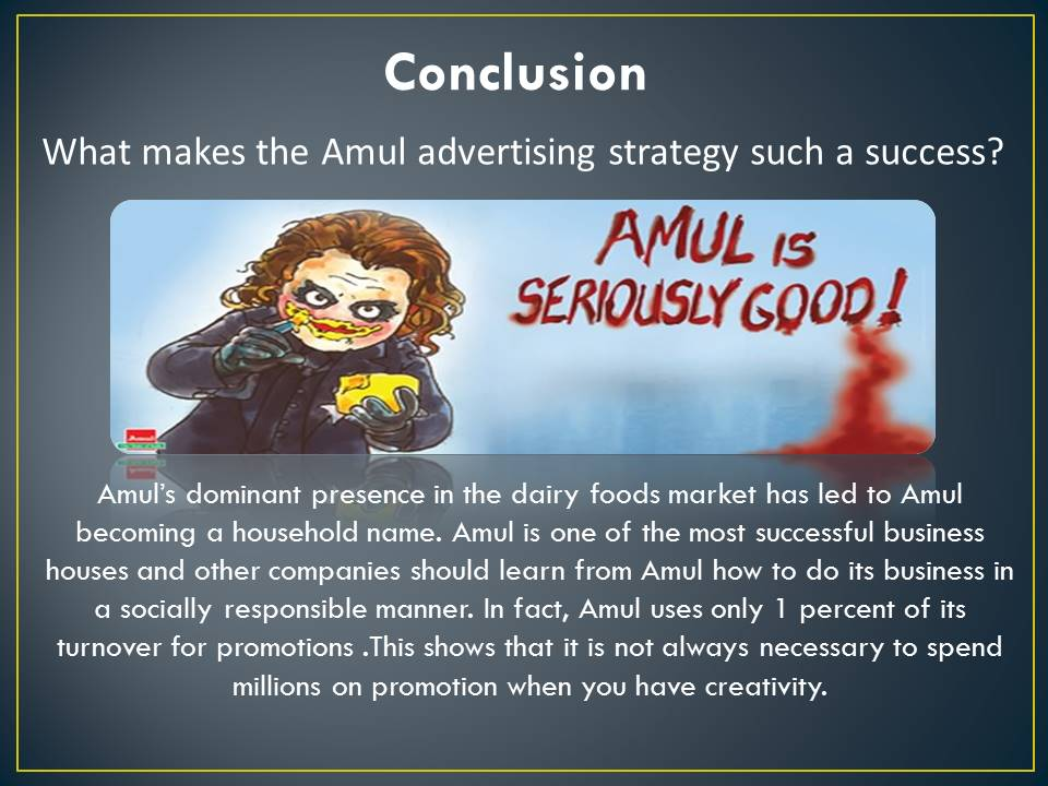amul projects The company markets its milk and milk products under the amul brand and its  baby milk powder under the name of amul spray the plant, to.