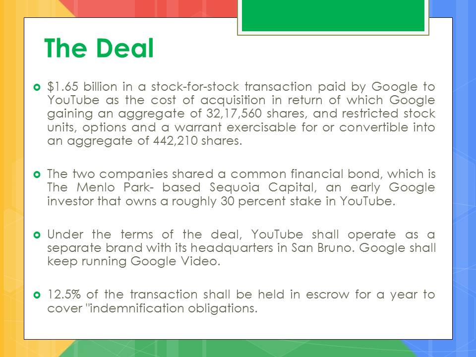 google and youtube deal