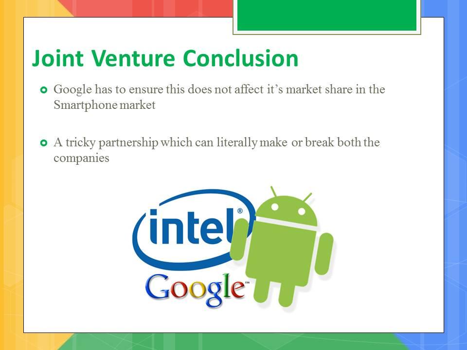 google joint venture