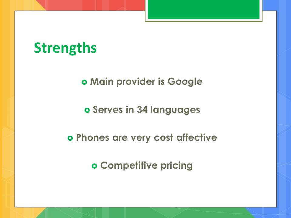 google strenghts