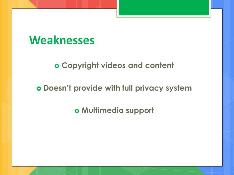 google weakness