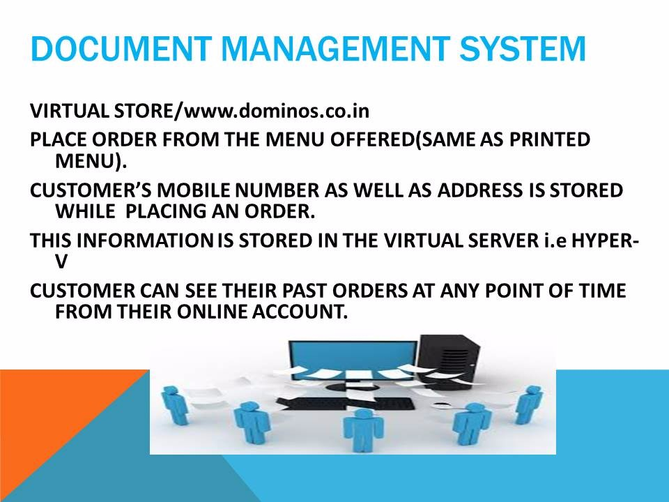 Document Management System of Dominos