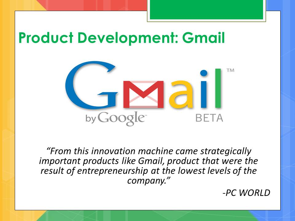 Google product development