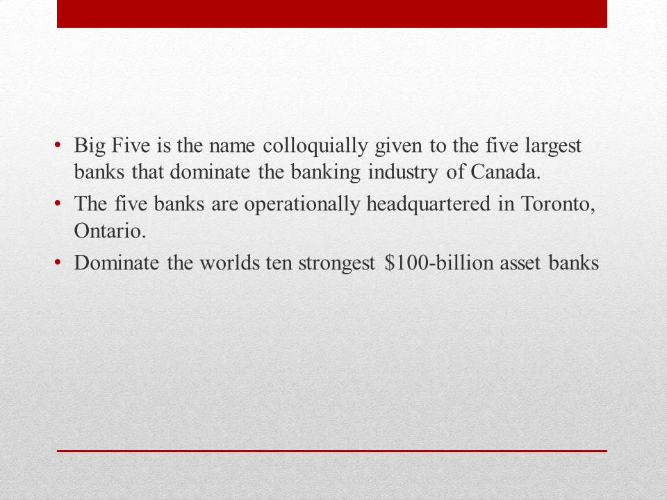 Best banks of Canada