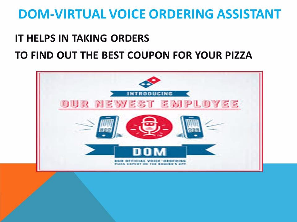 Dominos Voice Ordering App