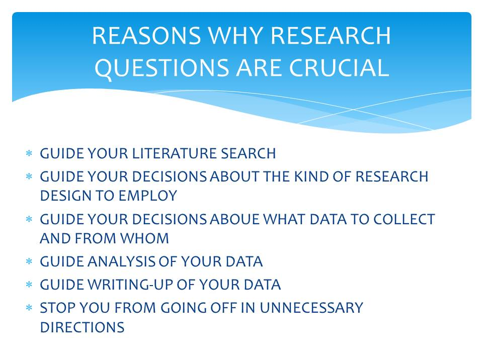 Importance of Research Questions