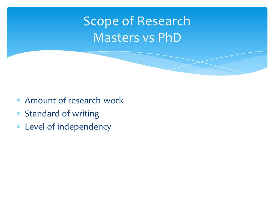 Scope of Research