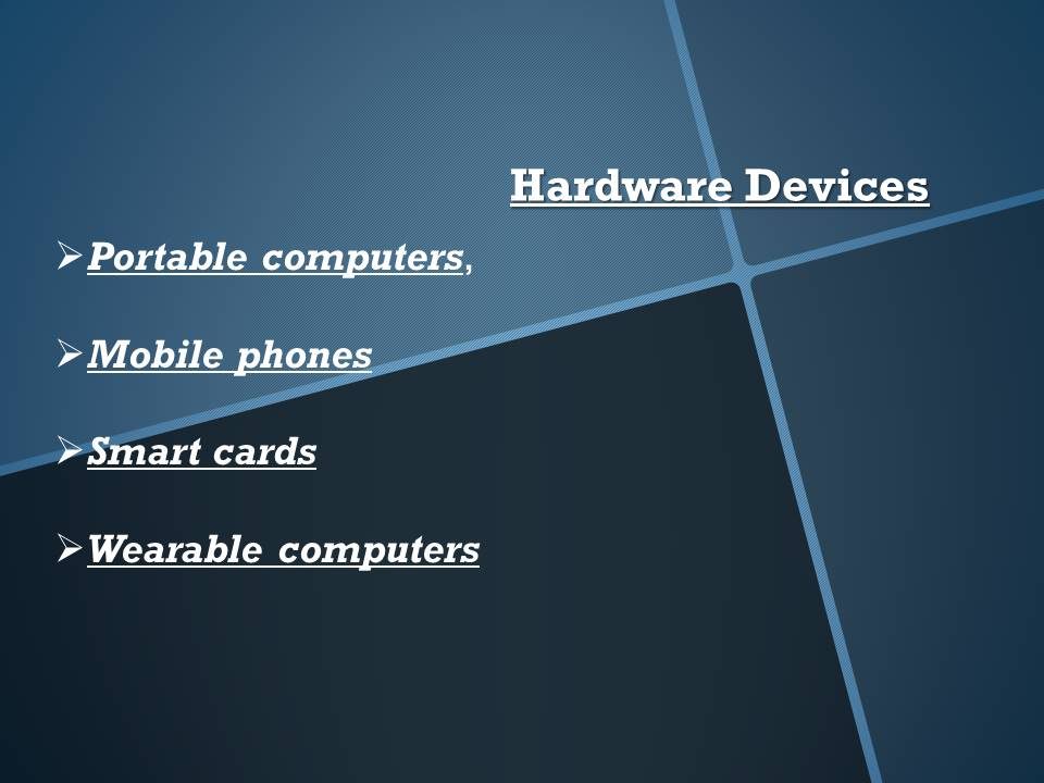 Mobile Computing Hardware