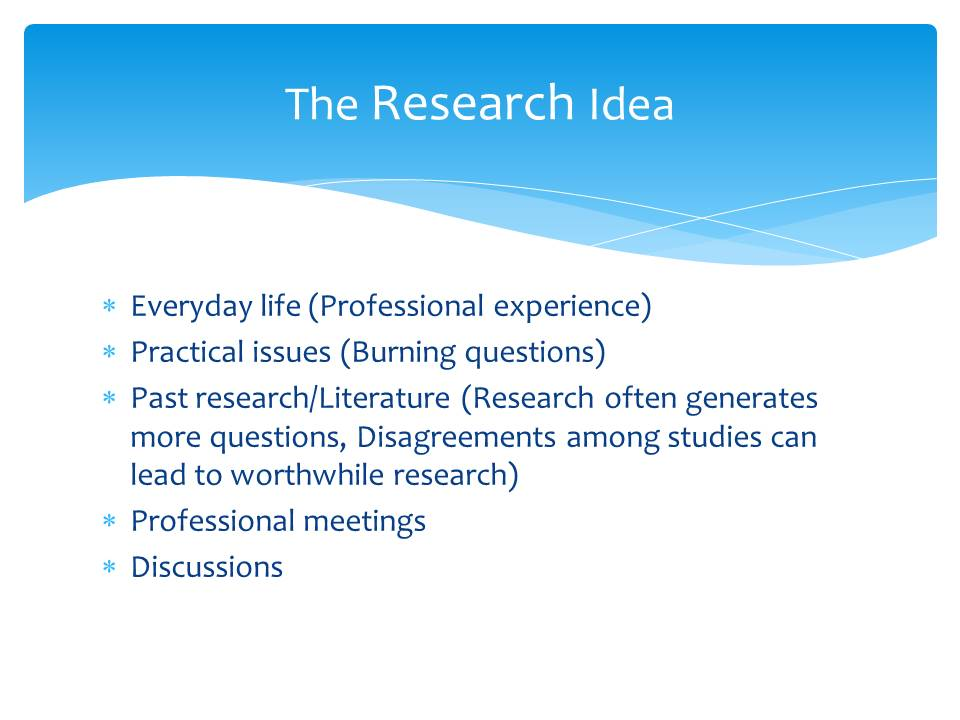 Research Idea