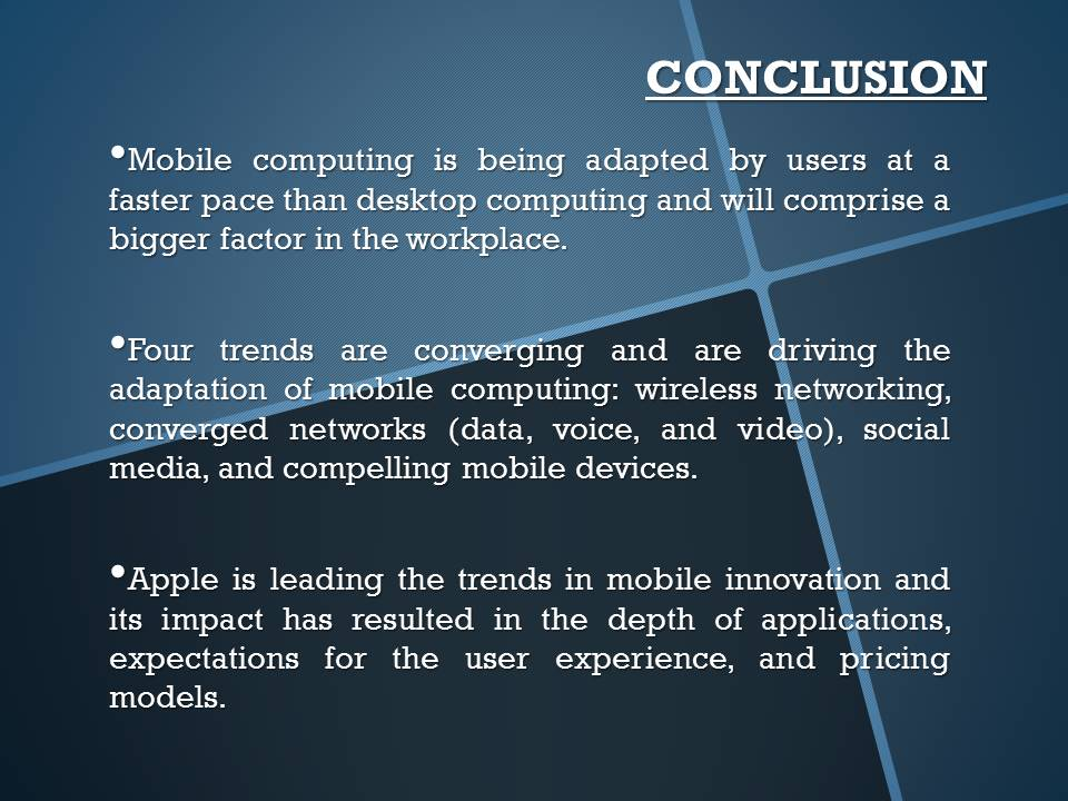 Mobile Computing Conclusion