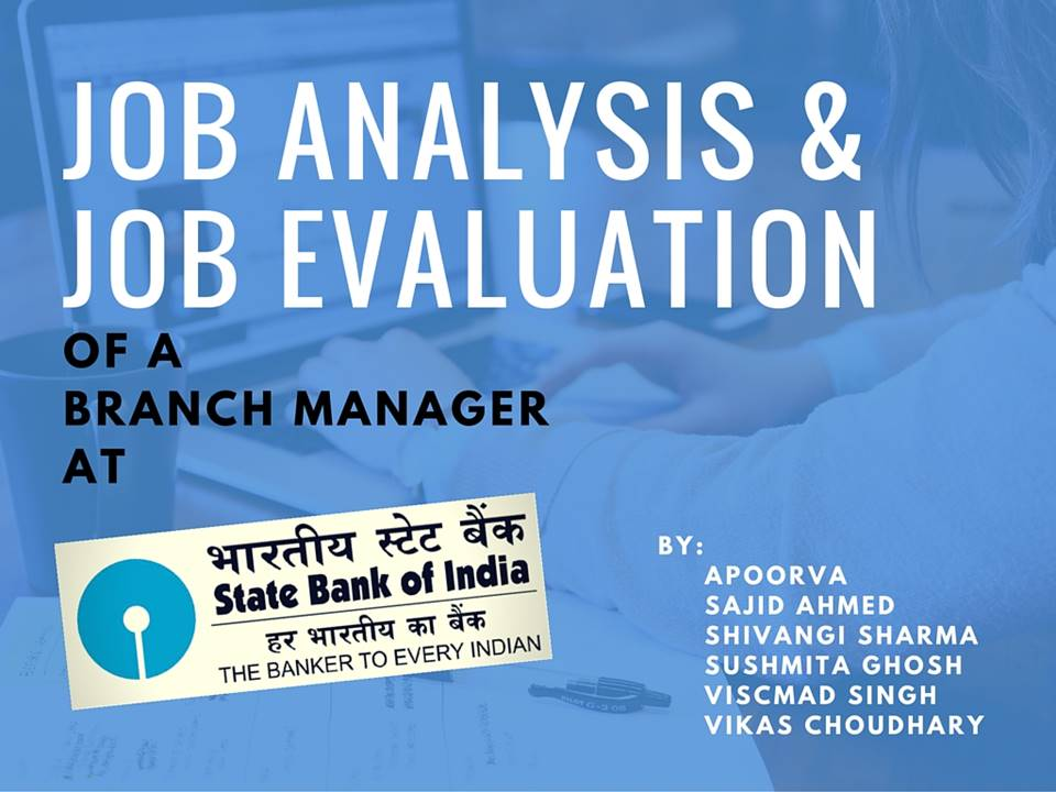 Job analysis of a branch manager