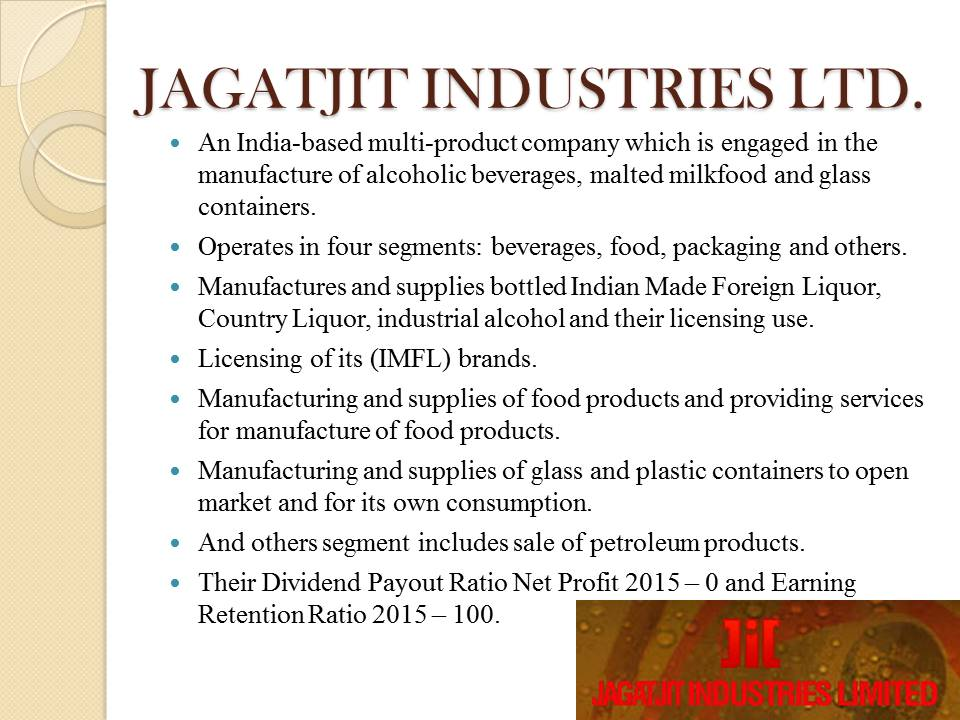Jagathit Industries LTD. overview