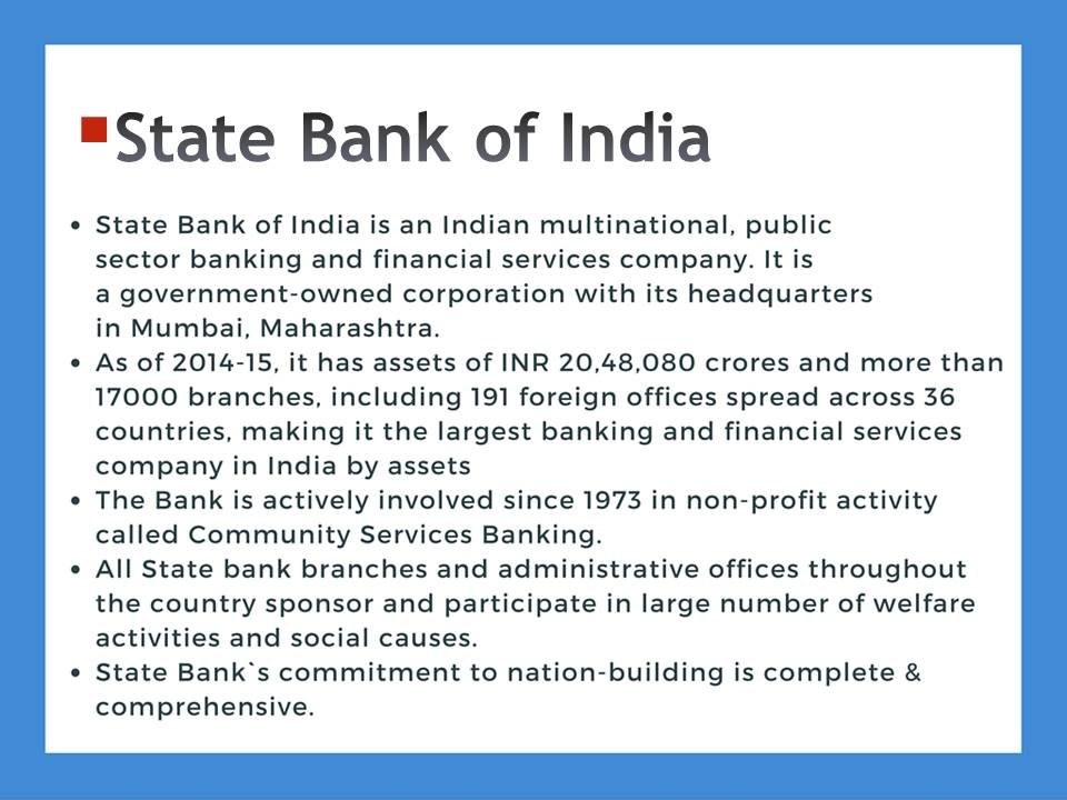 SBI Introduction