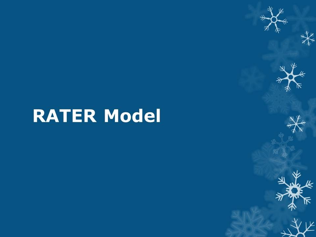 RATER Model