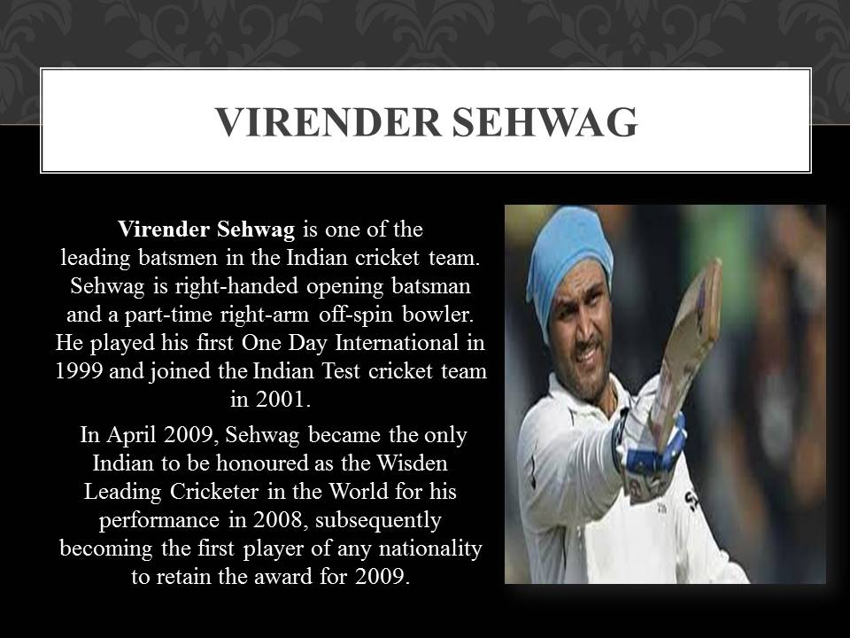 about Virender sehwag