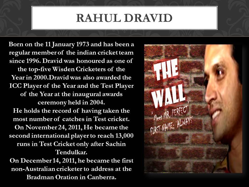 about Rahul Dravid