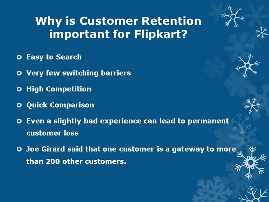 Flipkart Customer Retention