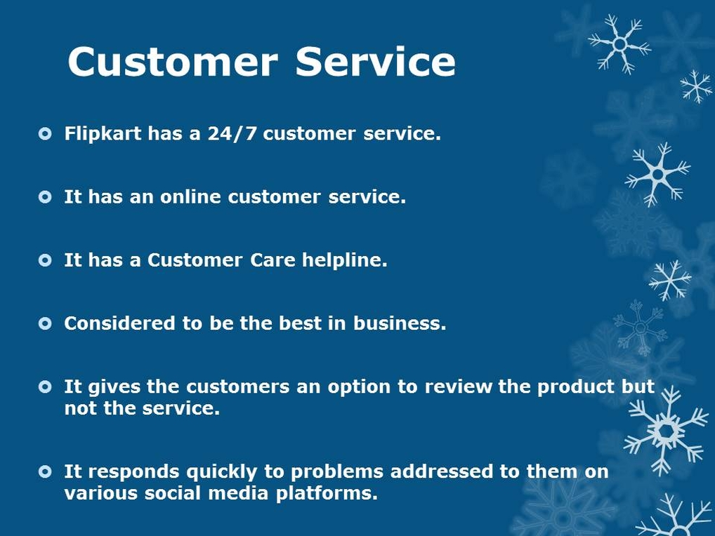 Flipkart Customer management