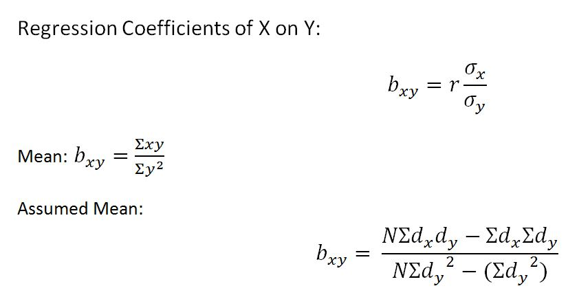 regression-coefficient-of-x-on-y