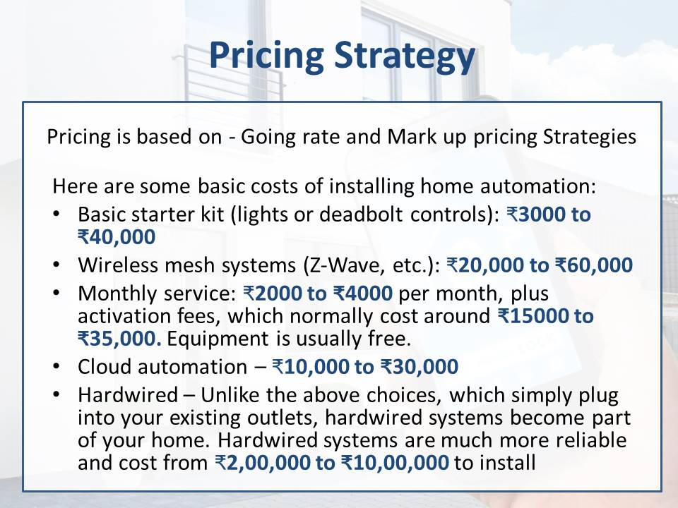 Pricing strategy for Home Automation systems