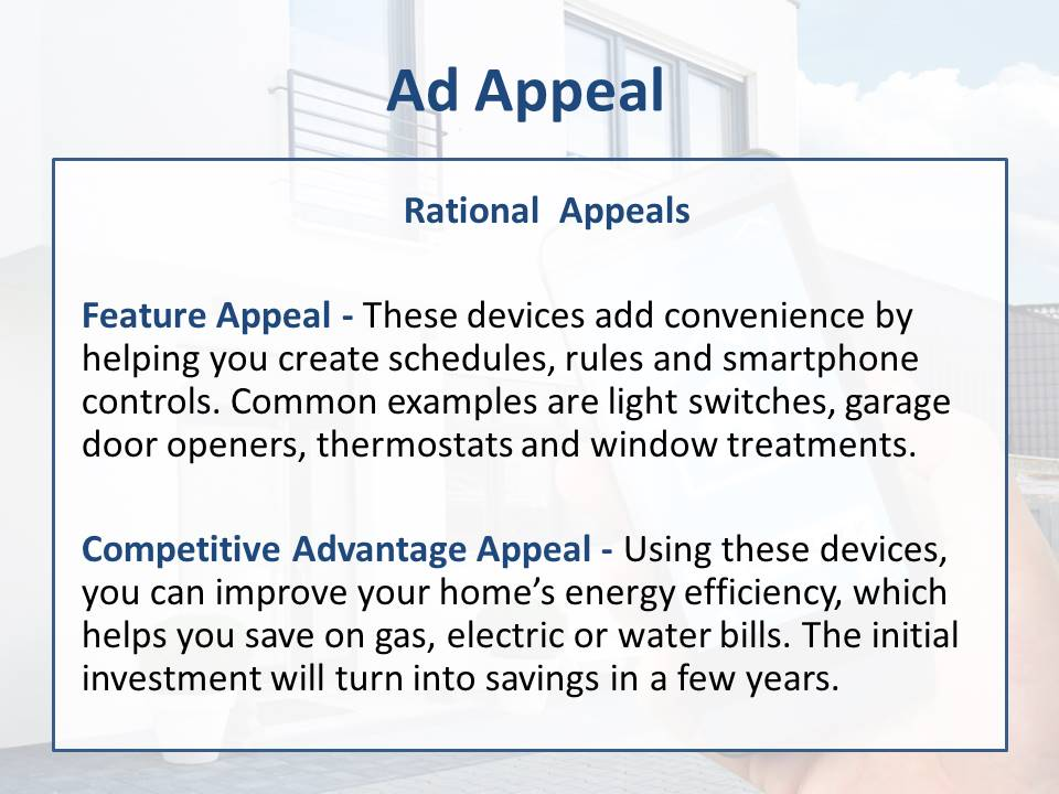 Ad Appeals for home automation