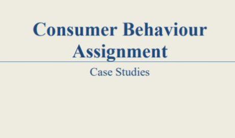 Consumer behaviour solved case study