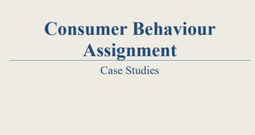Consumer behaviour solved case study