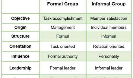 Group Behaviour - Formal & Informal groups