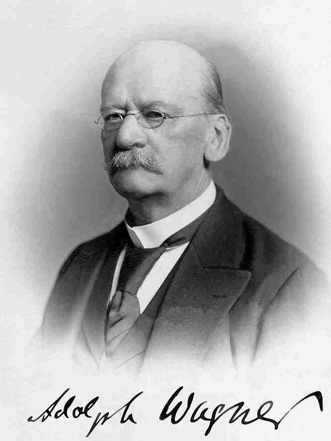 Law of increasing state activities Adolph Wagner