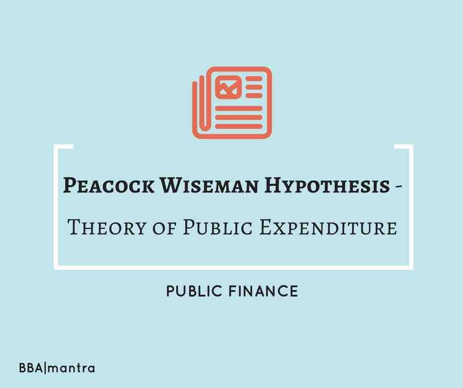 Peacock Wiseman Hypothesis - Public Expenditure