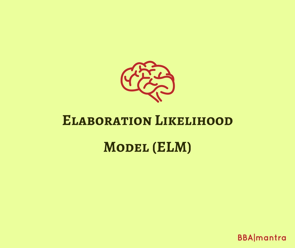 Elaboration Likelihood Model (ELM)