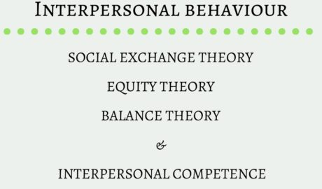 Social Exchange, Equity & Balance Theory, Interpersonal competence