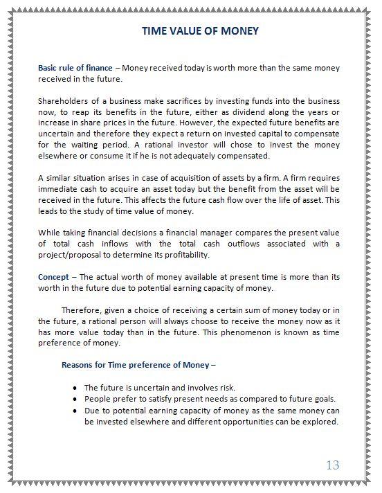Mba ib notes pdf
